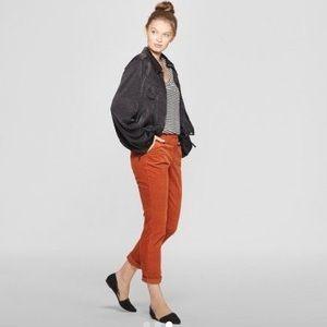 A New Day Slim Corduroy Pants size 4 R Orange Rust